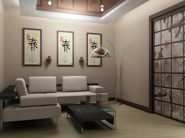 очаровательный японский стиль в гостиной