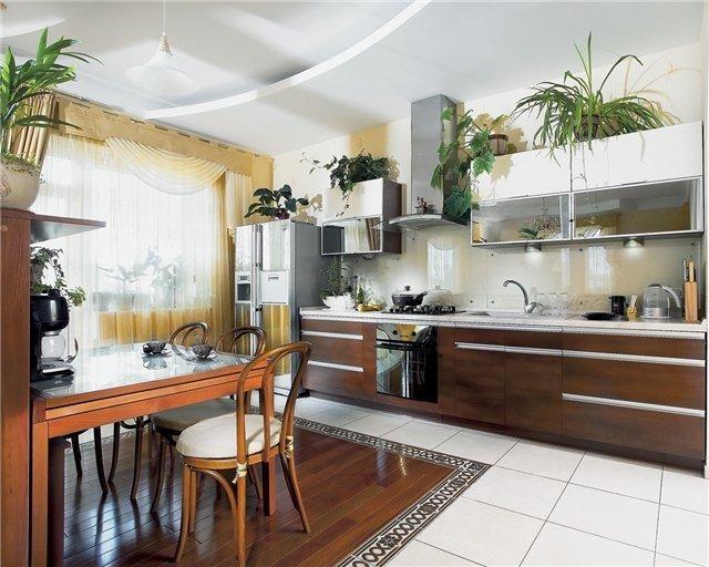 особенности дизайна прямой кухни