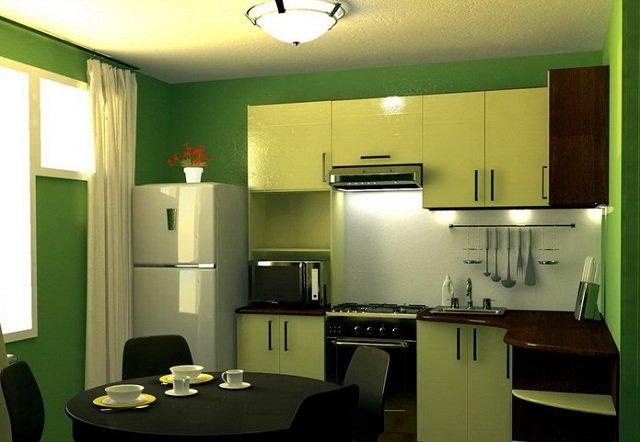 отличный дизайн 7 метровой кухни