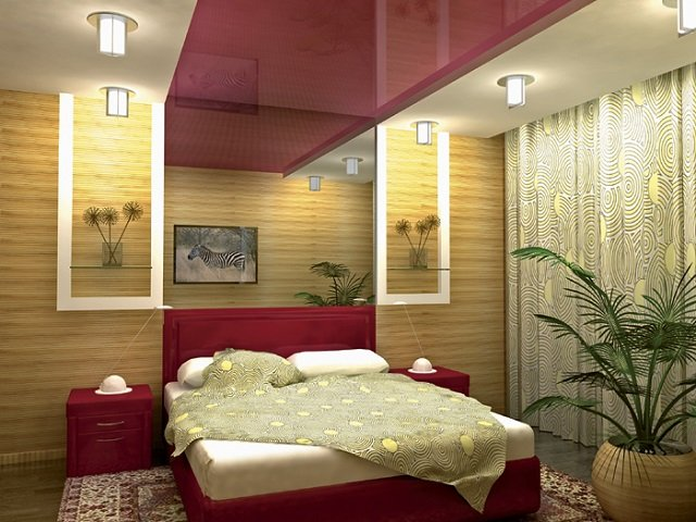 потолки в спальне со вкусом