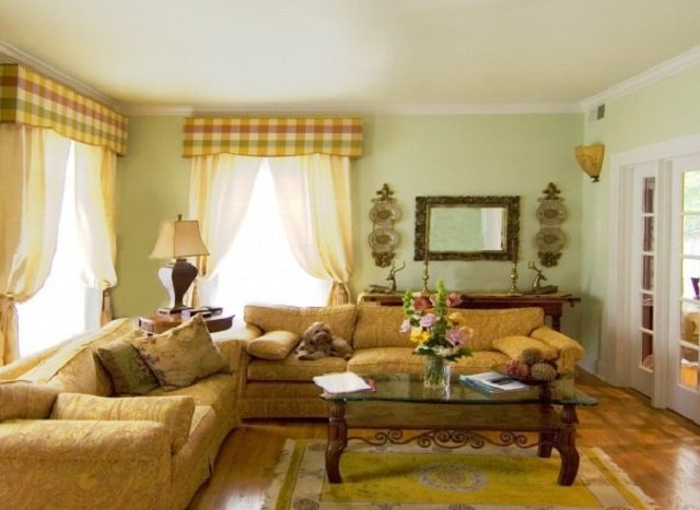 прованс в интерьере гостиной