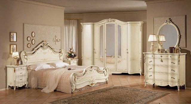 роскошный стиль барокко в спальне