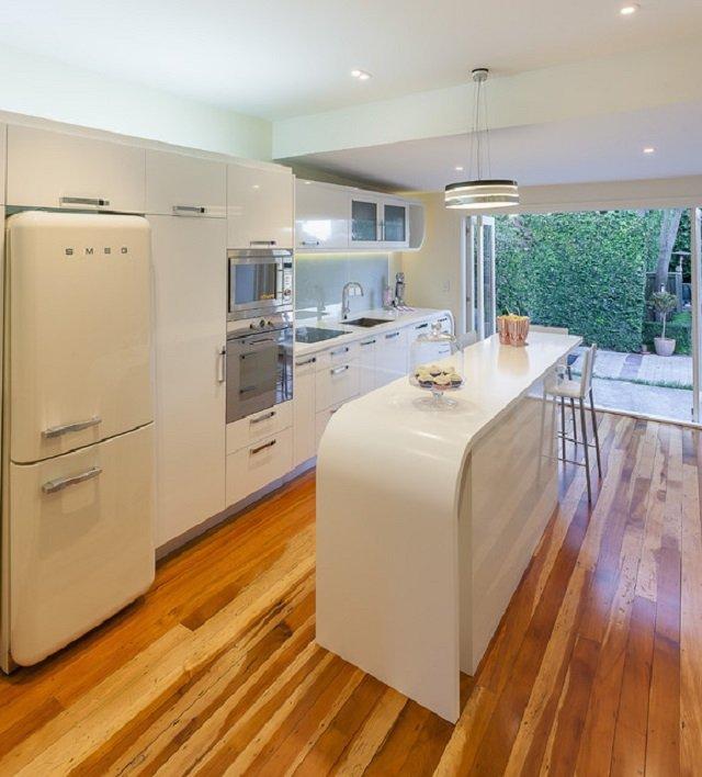 современная кухня дизайн с островом