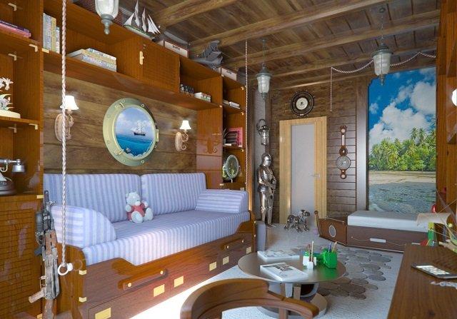создаем дизайн детской комнаты в морском стиле