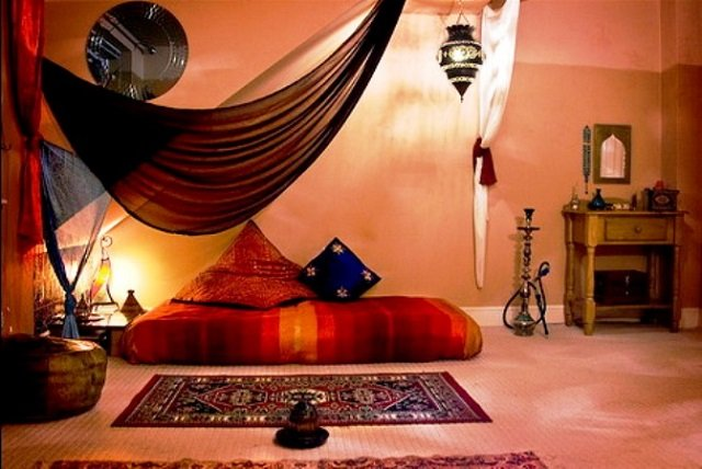 спальная комната в восточном стиле