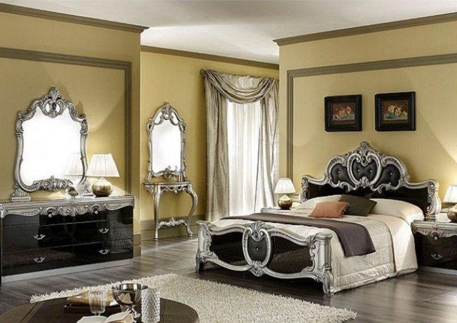 стиль барокко - роскошь старины в спальне