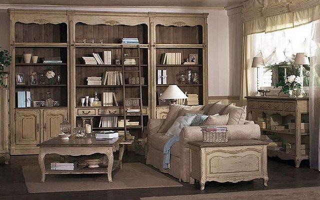 стиль прованс в гостиной