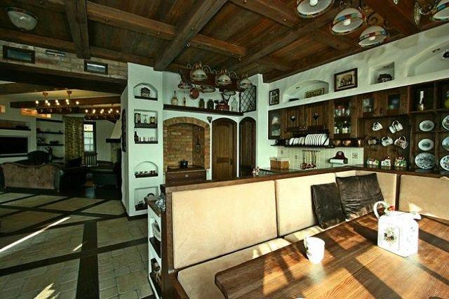 стильная кухня в стиле шале