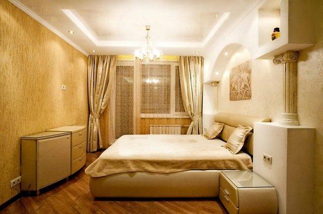 стильная спальная комната в хрущевке