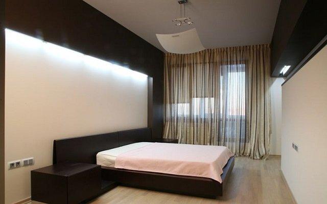 так может выглядеть стиль минимализм в спальной
