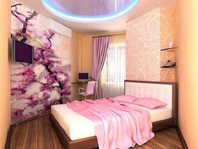 так может выглядеть дизайн интерьера спальни для девушки