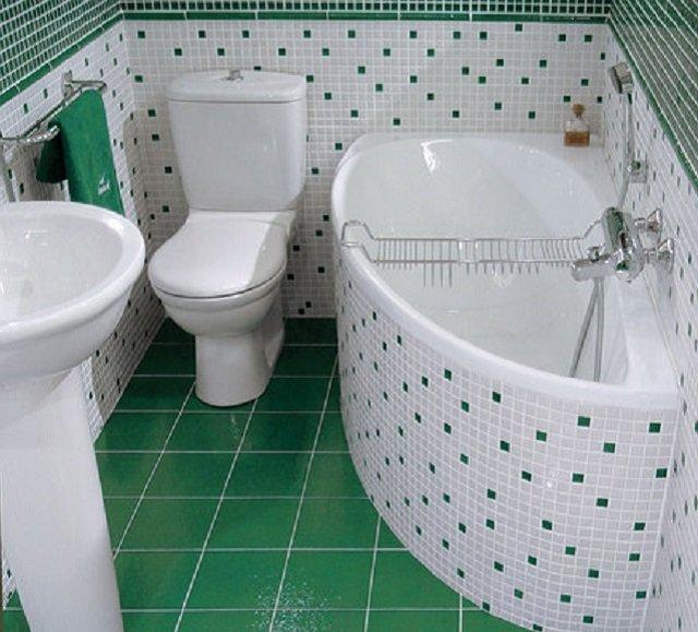 угловые ванны для маленьких ванных комнат