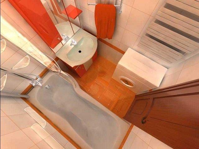 вариант дизайна малогабаритной ванны