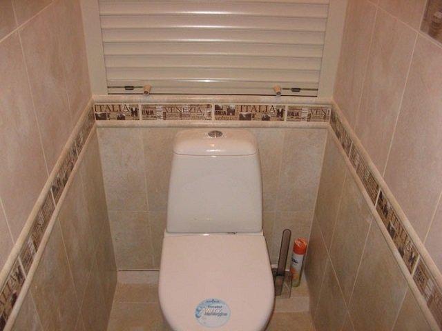 вариант интерьера туалета в хрущевке
