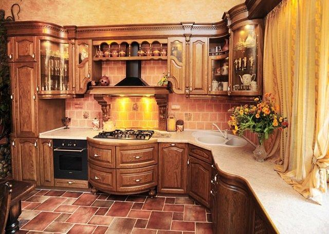 вариант кухни с печкой