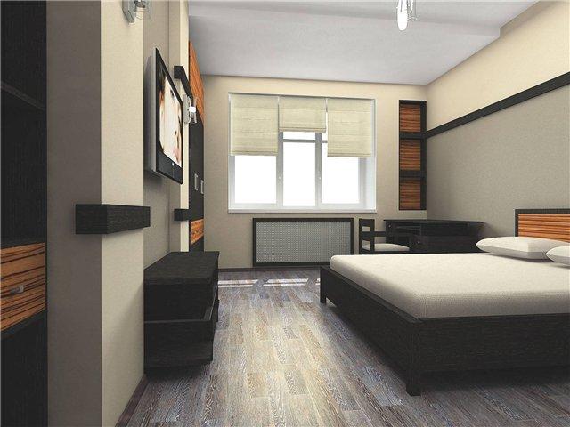 вариант минимализма в спальне