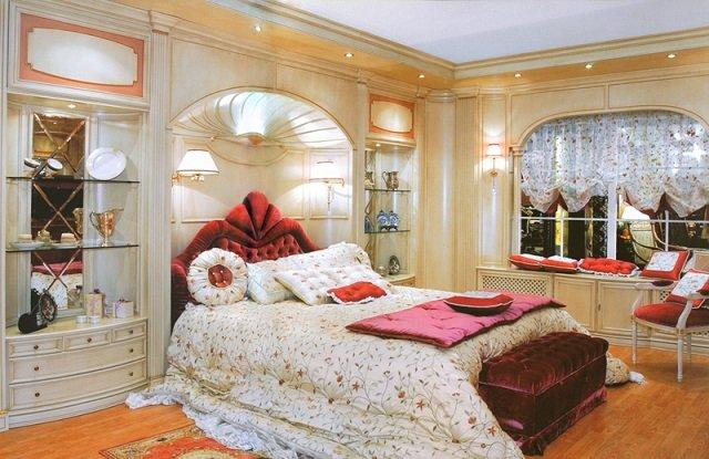 великолепный дизайн большой спальни