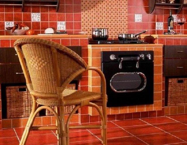 выбираем дизайн напольной плитки на кухне