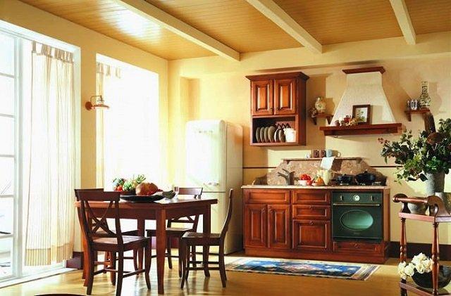 выбираем лучший интерьер кухни в деревенском доме