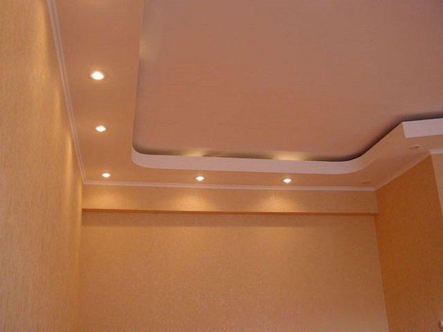 двухуровневые потолки своими руками