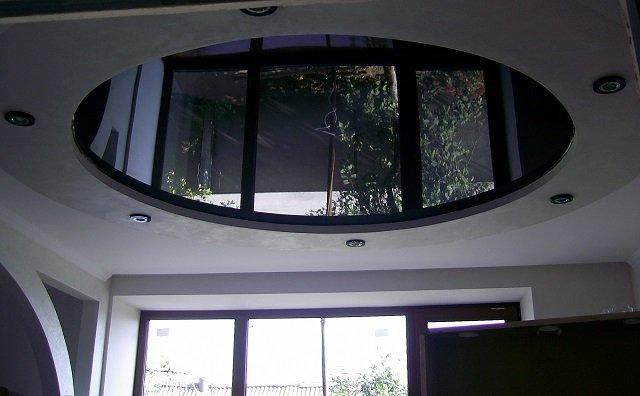 глянцевые черные натяжные потолки в вашем доме
