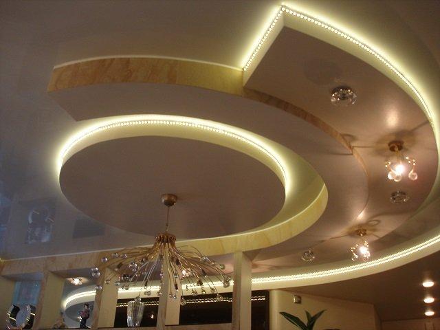 как создать оригинальный дизайн потолков из гипсокартона