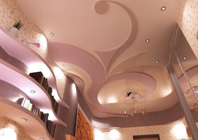 идеи и установка подвесных потолков из гипсокартона