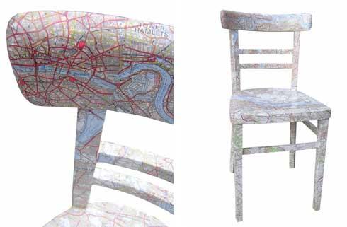 оригинальный стул с картой
