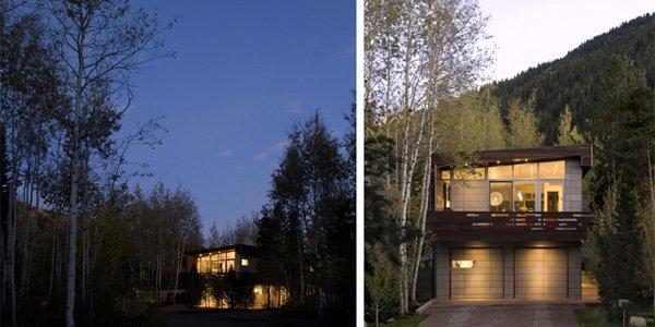 стильная резиденция сливающаяся с горами