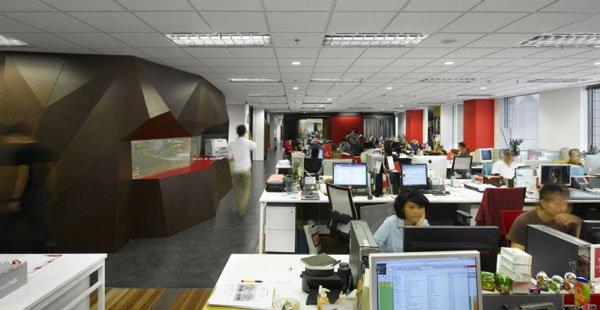 дизайн главной комнаты в офисе