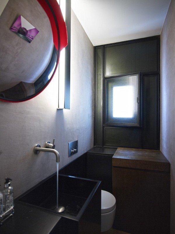 фотографии чёрно-белой ванной комнаты