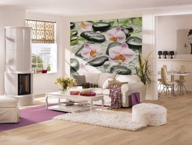 фотообои орхидеи в интерьере у вас в квартире