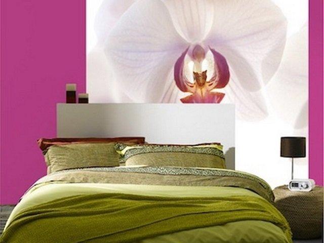 фотообои в интерьере орхидеи