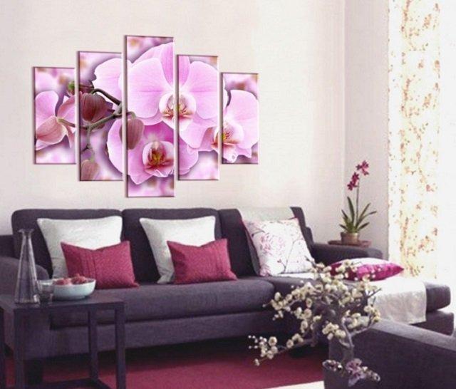 красивые фотообои орхидеи в интерьере