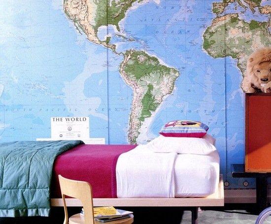 обои карта мира