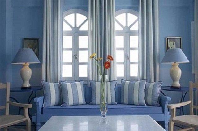 синий и голубой цвета обоев