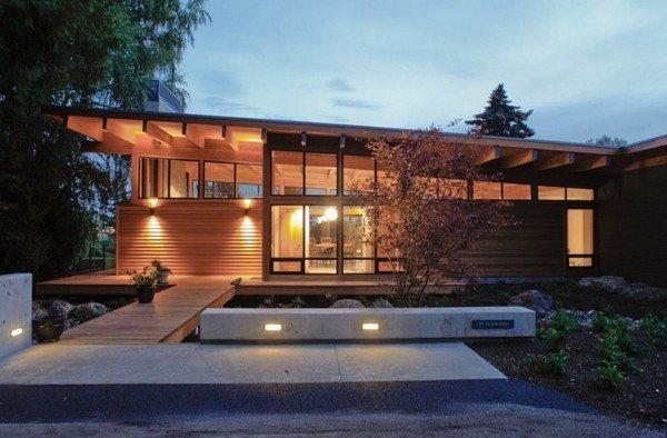 современный дизайн дома в деревне