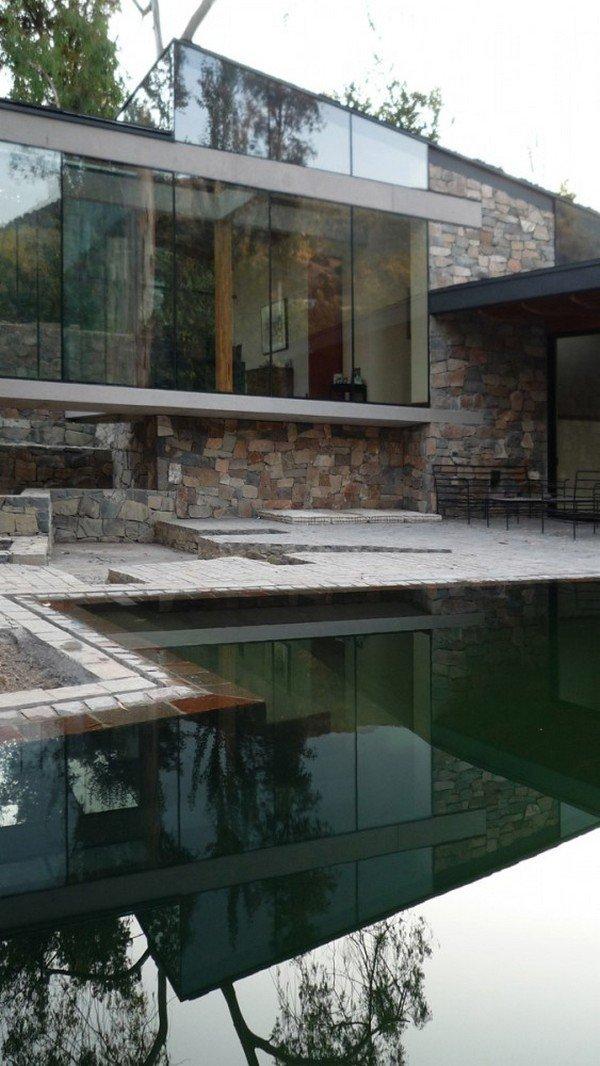 дизайн дворика частного дома