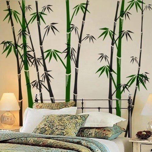 фотообои бамбук придают шарм комнате