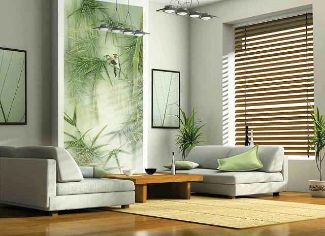 используем фотообои бамбук в интерьере