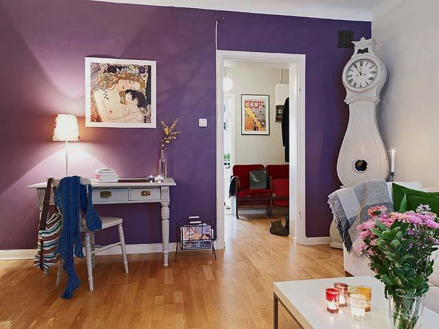 сиреневые обои в интерьере цветовые решения для каждой комнаты