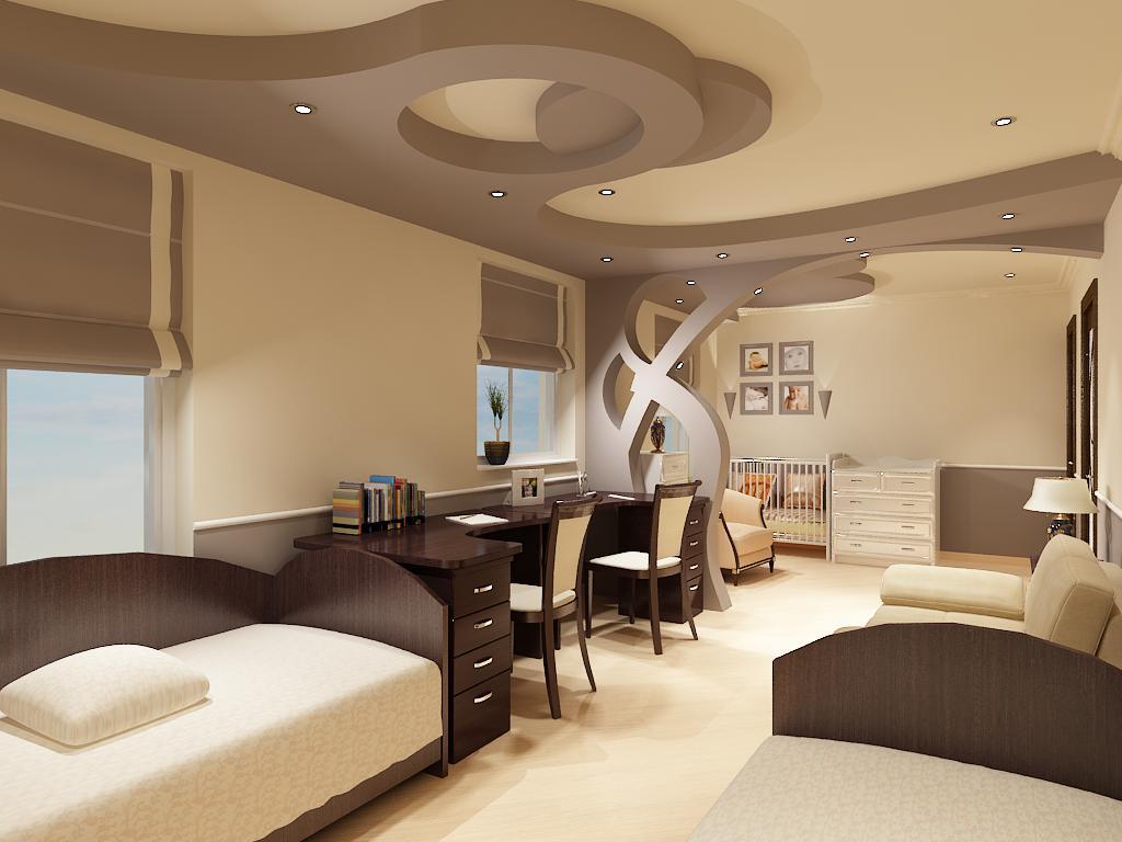 Дизайн интерьера с подиумом 55