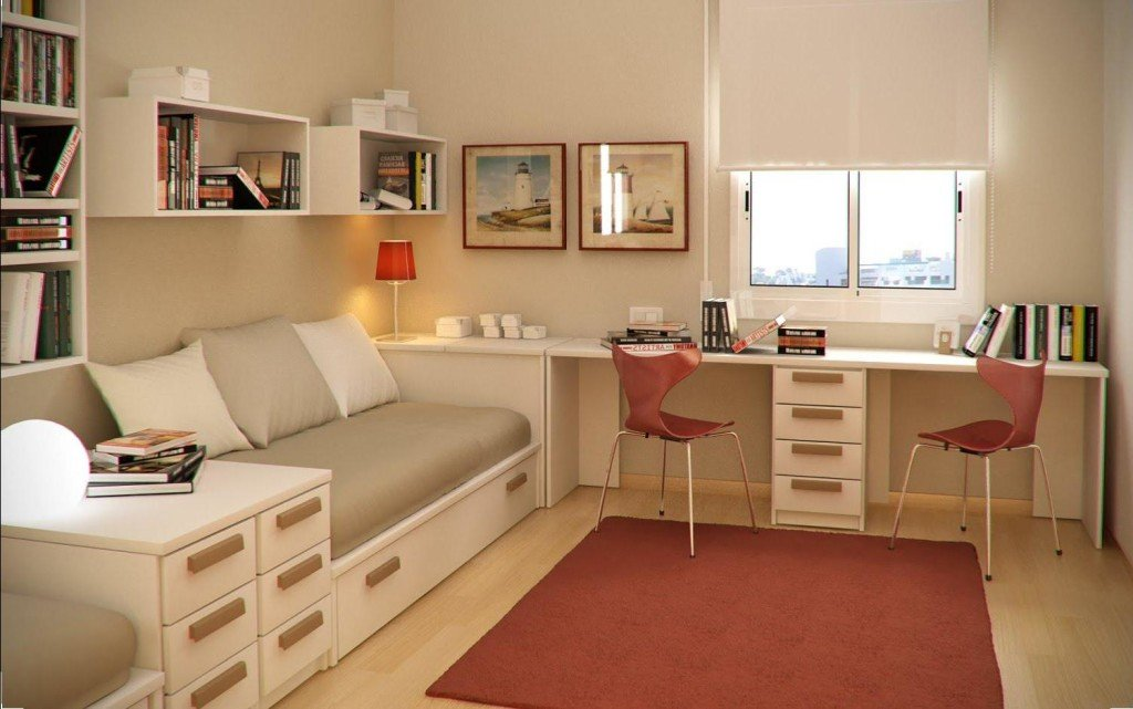 Подростковая для двоих комната дизайн