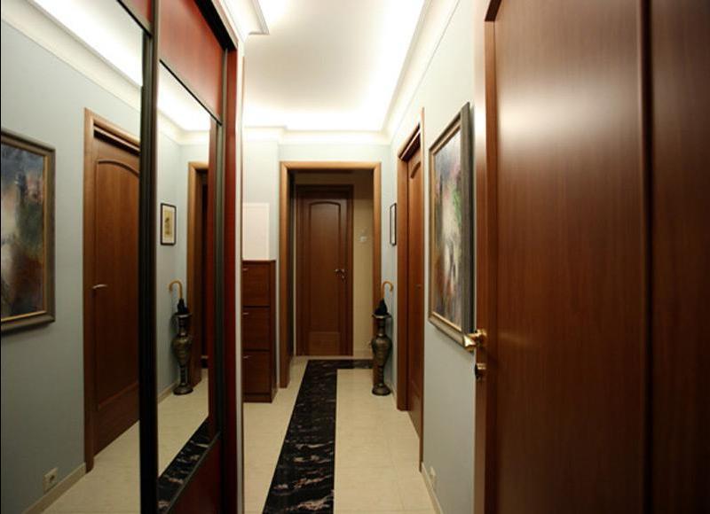 дизайн узкого и длинного коридора фото