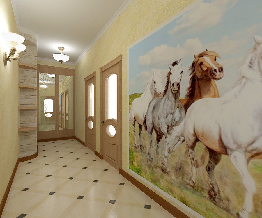картина в узком длинном коридоре фото