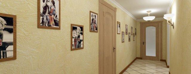 плитка на полу узкого и длинного коридора фото