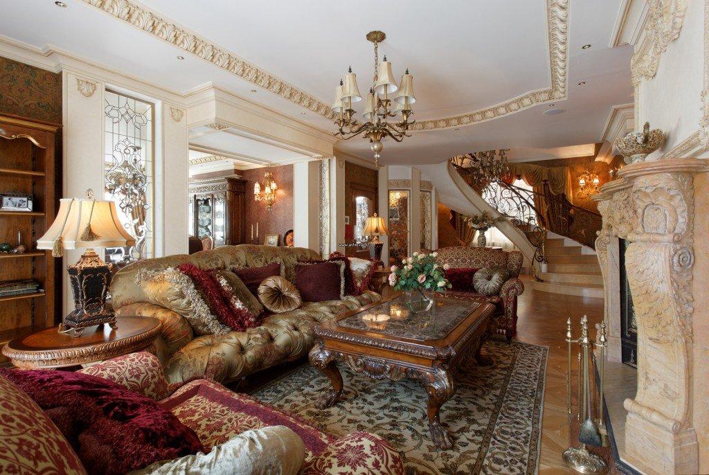 Роскошный интерьер дома фото