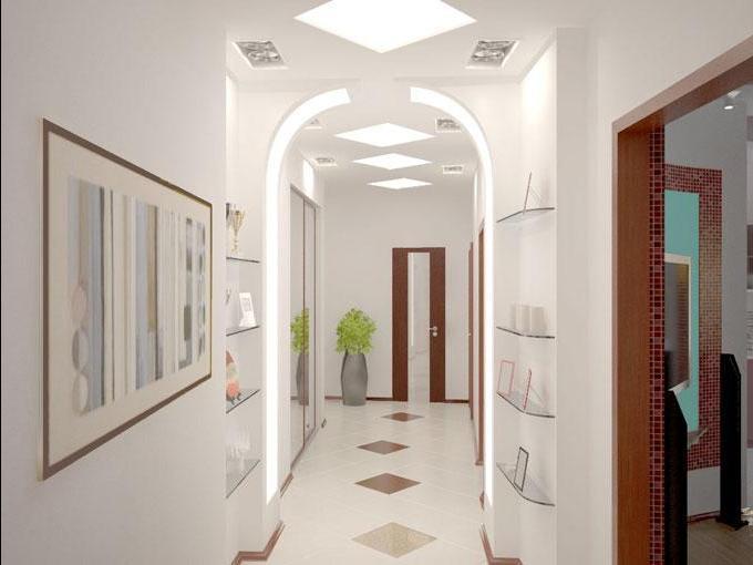 узкий и длинный коридор фото