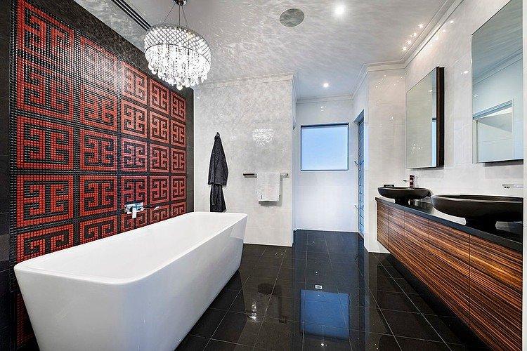 ванная комната в черно-белом цвете фото