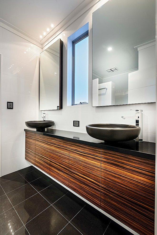 ванная комната в черно-белом стиле